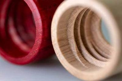 threaded wooden cap