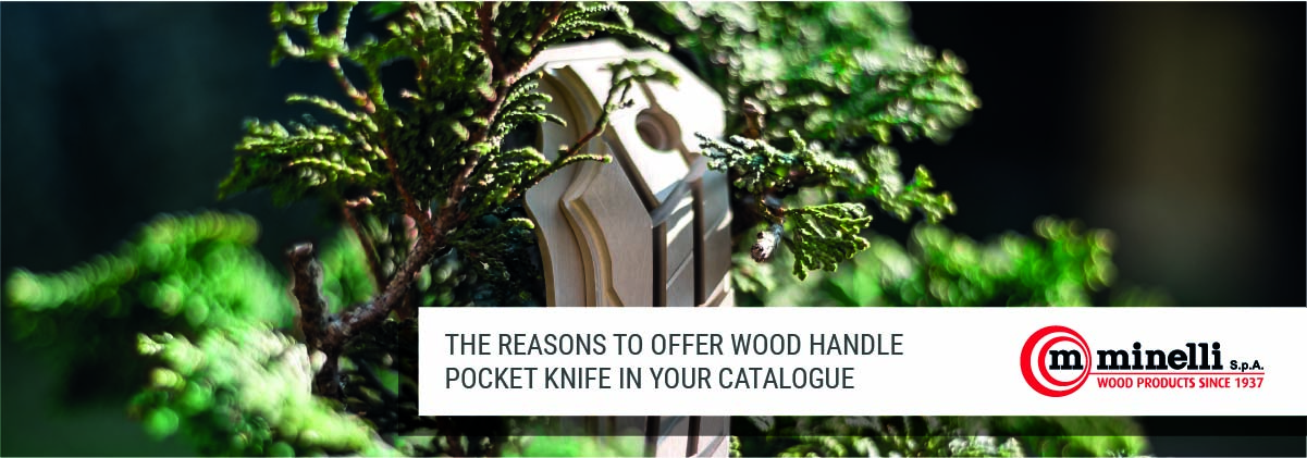 wood handle pocket knife